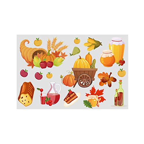 UPSUNNY-DE Aufkleber Aufkleber Kürbis Aufkleber Aufkleber Ahorn Thanksgiving Dekorationen Gut