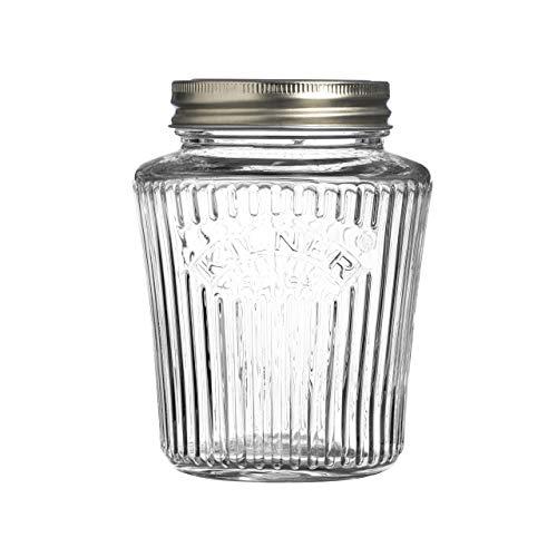 Kilner Vintage - Tarro de cristal con tapa de rosca para almacenamiento de alimentos
