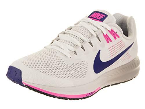 Nike Women's Damen Laufschuh Air Zoom Structure 21 Training Shoes, White (Summit White/Deep Royal Blue-V 101), 8 UK