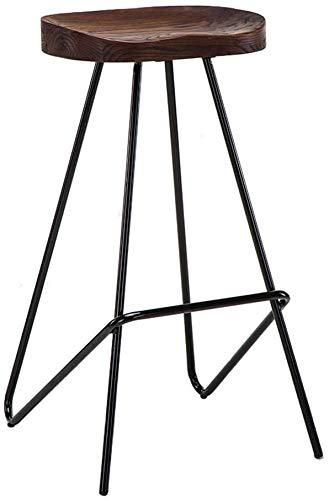 Taburete alto taburete bar Nordic taburete de madera maciza