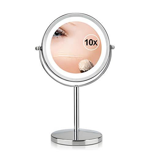 FASHION AMA Miroir Grossissant Miroir Maquillage Beauté Miroir Voyage Miroir La lumière Miroir Portable Miroir Bureau Miroir Miroir pour Le Maquillage