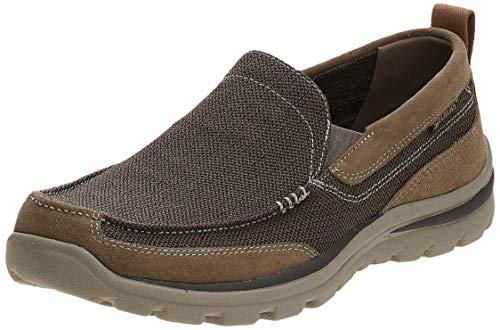 Skechers Superior- Milford, Zapatillas de Deporte Hombre, Marrón (LTBR), 44