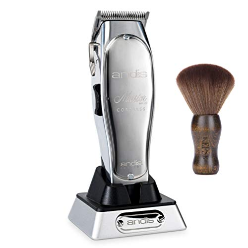 Andis Professional Master Cordless Lithium-Ion Clipper (12470) - Bundled with KEPSE Neck Duster