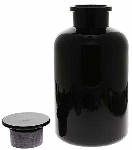 Apothekerglas Mironglas Violett-Glas, Apotherkerflasche Kosmetex 2000 ml, rund m. Miron Glasstopfen, 2000 ml