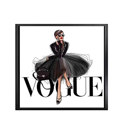 TeriliziCuadros Decoración Solar Vogue Figura Carteles E Impresiones Nórdicos Moda Pared Pop Art Lienzo Pintura Cuadros para Sala De Estar-50X50Cm Sin Marco