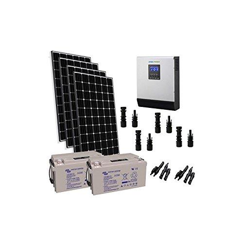 PuntoEnergia Italia - Kit Solar Rifugio Pro 1200W 24V Panel Fotovoltaico Inversor 3000W bateria 165Ah - KBA-1200XP-24-3000-B165-AVF