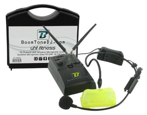 BoomToneDJ UHF FITNESS - Micrófono inalámbrico (banda UHF), color negro