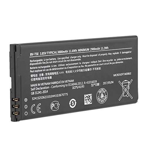 ASHATA Batteria di Ricambio Ricaricabile Originale 3.85V 3000mA BV-T5E per Microsoft Lumia 950