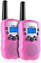 Selieve Toys for 3-12 Year Old Boys, Teen Girl Gifts, Walkie Talkies for Kids Teen Boy Gifts Birthday (Pink, 1 Pair)