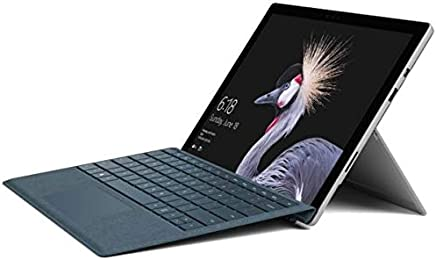 Microsoft Surface Pro 2017 Tablet, Intel Core i7, 12.3 Inch, 256GB, 8GB, Wi-Fi, Windows 10 Pro, Silver with En-Ar Keyboard, Cobalt, Latest Version