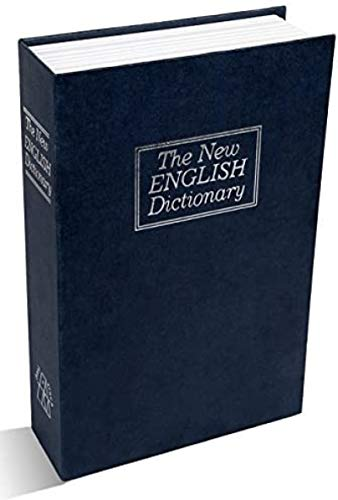 YANGYOU Secret Book Safe Box Dictionary Jewellery Money Cash Box Security Key Lock Creative Coin Box Dictionary Book Safe Box Creative Simulation Book Safe Mini Piggy Bank