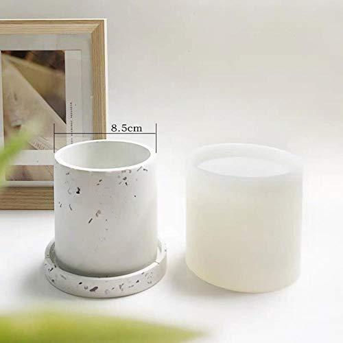 Drie vormen Beton Zeshoekige Bloempotten Siliconen Vaas Mallen Cement Sieraden Tray Plant Pot Base Klei Gips Coaster Mold diy