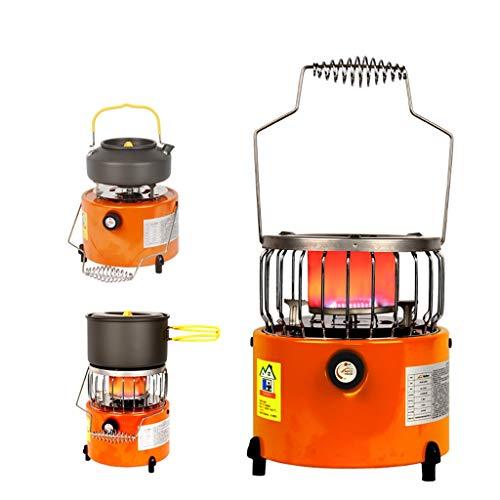 Portable 2 en 1 Chauffage de Camping Chauffage à gaz Chauffe extérieur Propane Butane Tente Chauffage Système de Cuisson