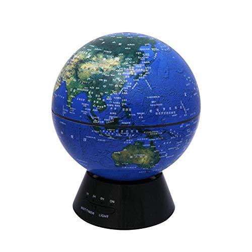 Startseite Kreative Mini Globe Aroma Diffusor Luftbefeuchter Ätherisches Öl Diffusor Spray Luftverteiler-Dunkelblau