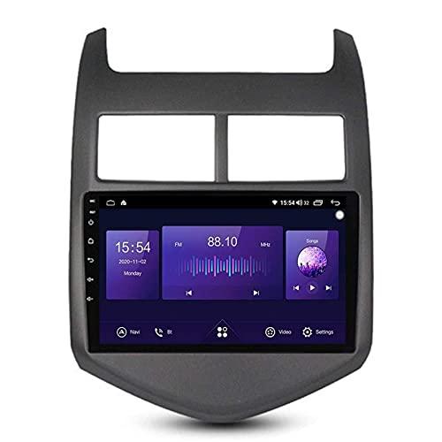 ZHANGYY Reproductor Multimedia de navegación GPS Doble DIN Android 10.0 de 9 Pulgadas Compatible con Chevrolet Aveo 2011-2013, FM/RDS/DSP/Bluetooth/Mirrorlink/SWC/cámara de visión traser