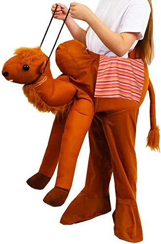 Costume da presepe per bambini a cavallo con cammello, costume da 3 re di Natale, scena del deserto, stabile, manger, taglia unica (circa età 4-11 anni), costume da cammello