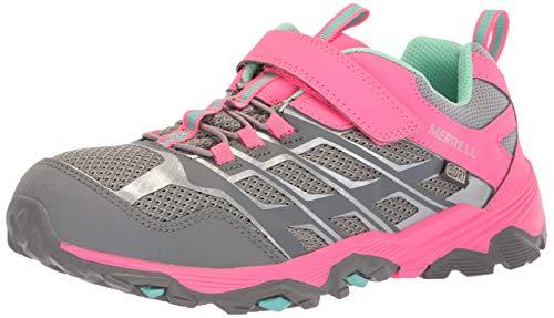 Merrell Moab FST Low A/C WTRPF, Chaussures de Randonnée Basses Mixte Enfant, Gris (Grey/Coral), 35 EU