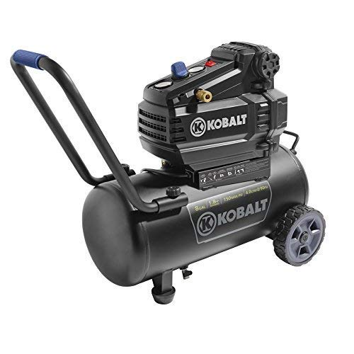 Kobalt 0300841 8-Gallon Portable Electric Horizontal Air...