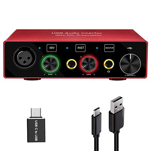 Audio Interface Audio Interface for PC USB...