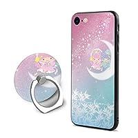 リトル ツイン スターズ iPhone 7 ケース iPhone 8 ケース スマホリング カバー リング 薄型 指紋防止 ケース リング付き 人気 落下防止 携帯カバー スタンド 携帯ケース 耐衝撃 薄型