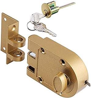 M5RU Door Lock Chain Door Security Door Lock Safety Bolt Lock Cabinet Lock DIY Household Tools Color : Gold