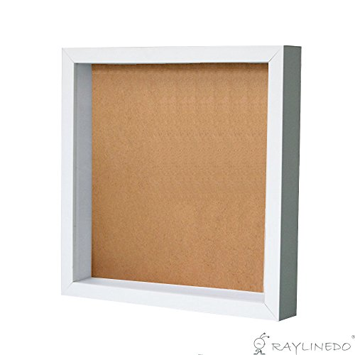 RayLineDo White 3D Deep Picture Photo Frame Display Memory Box For Specimen Medals Preserved Fresh Flower Quilling Paper Work (A4)