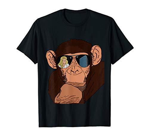 lustig guckender Affe Geschenkidee für Affen & Schimpansen T-Shirt