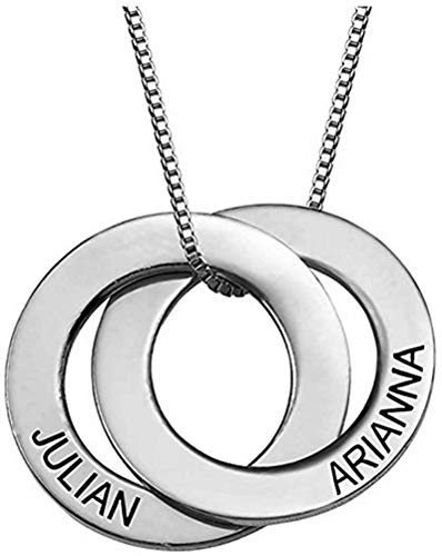 Russian Ring Necklace with Engraving - Personalized & Custom Made Gift For Mom