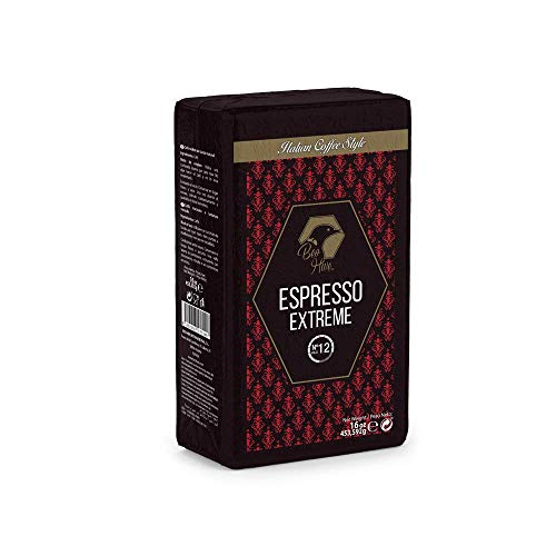 Beo Hive | Café Molido | Cafe Molido Espresso Crema | 453 g | Aromático y de Tueste Natural | Café Molido Espresso | Sabor Intenso y Cremoso | Café Seleccionado de Primera Calidad Calidad