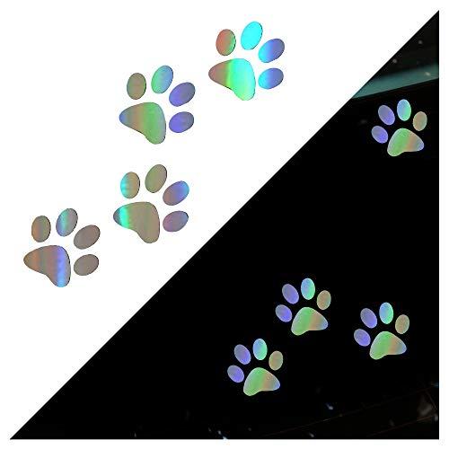 Alician Pegatinas 3D para coche divertidas con estampado de huellas de gato, huellas de perro, impermeable, huellas de coche, accesorios para automóviles