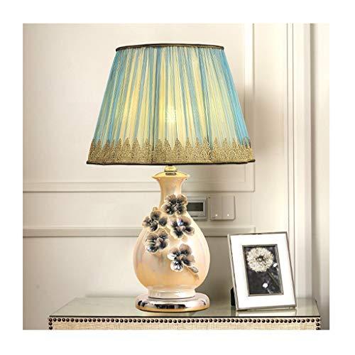 Lampe de table Salon Décoration Chambre Lampe de chevet Table de chevet Lumière Lampe de bureau Tissu Ombre Rustique Céramique