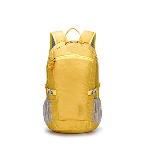 KK Timo Outdoor Sports Leisure Backpack Student Bag Travel Camping Backpack (Color : Yellow)