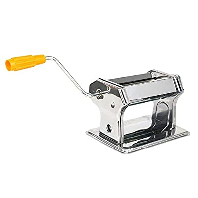 Pasta Maker Machine Stainless Steel Craft Polymer Clay Conditioning Machine Press Roller Pasta Hand Crank Noodle Maker Used to Make all Kinds of Noodles (Color : Silver, Size : 20x12x11cm) JIAJIAFUDR