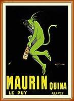 ポスター レオネット カピエッロ Maurin Quina le Puy 額装品 ウッドベーシックフレーム(オレンジ)