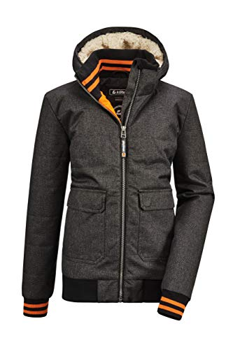 Killtec Jungen Bantry BYS Quilted BLSN A Casual Blouson Mit Kapuze, anthrazit, 164