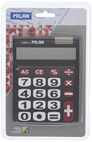 Milan 151708BL - Calculadora, 8 dígitos, multicolor