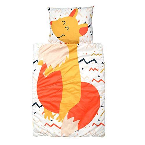 Schlafsack für Kleinkinder Kindergarten Schlafsäcke,3in1 Decke Bettdecke Kopfkissen mit Karikatur Pattern für Kindergarten Zuhause Reise (Gelb Kängurus)
