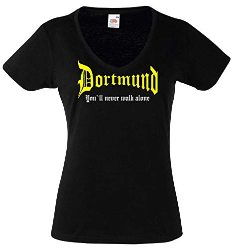 Dortmund Damen T-Shirt You`ll Never Walk Alone