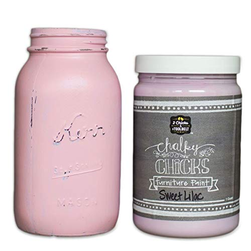 Chalky Chicks | Chalk Finish Paint | Perfect For Furniture, Cabinets, Home Decor, & DIY Craft Projects | 32 oz | Sweet Lilac