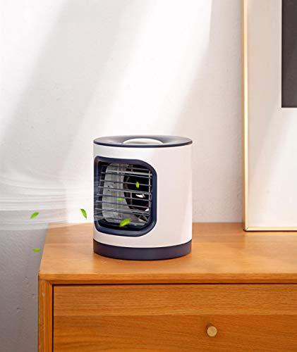 YESHUOYS para el hogar oficina sala cocina aire acondicionado portátil ventilador de aire acondicionado de escritorio mini evaporativo refrigerador de aire silencioso humidificador 3 velocidades