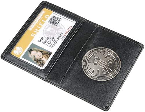 Escudo porta tarjetas de cuero para pases de pasajeros de The Avengers Agents of S.h.l.e.l.d Cartera con insignia