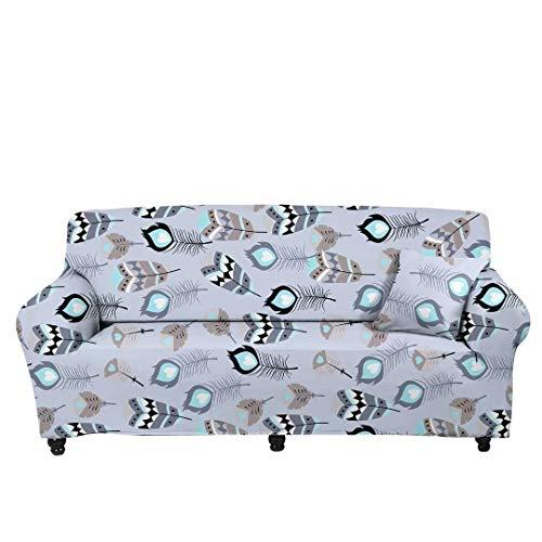 JBNJV Funda de sofá elástica de Plumas de Pavo Real para Perros con Asiento, Funda de Repuesto para sofá de Dos plazas Universal, sofá de 3/4 plazas, Funda para sofá, decoración del hogar