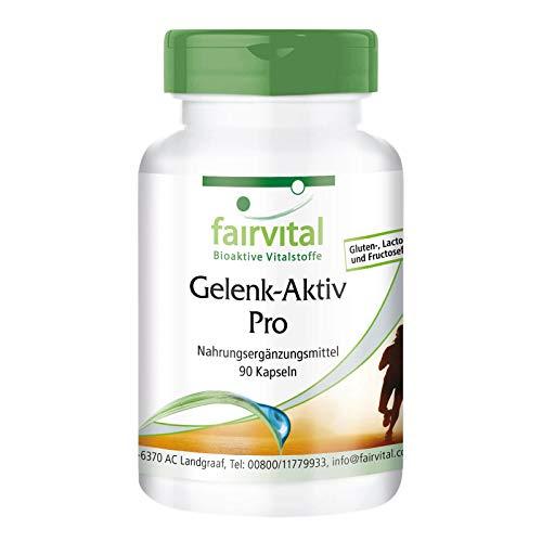 Gelenk-Aktiv Pro - HOCHDOSIERT - 90 Kapseln - mit Glucosamin, Chondroitin, MSM und mehr