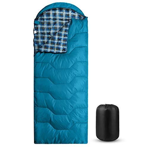 Forceatt Schlafsack, 3 bis 4 Jahreszeiten Deckenschlafsack Schlafsack für Camping, Reisen und Outdoor-Aktivitäten, Erwachsene und Jugendliche in 0 ℃ bis 20 ℃, Wasserdichter-Leicht-Warm-Atmungsaktiv.