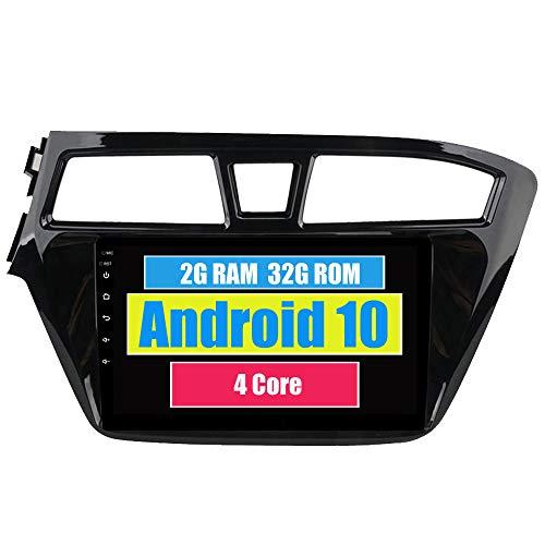 RoverOne Radio del Coche para Hyundai I20 2015 2016 2017 2018 con Android Reproductor Multimedia Navegacion GPS Pantalla Táctil Bluetooth Estéreo WiFi USB Mirror Link
