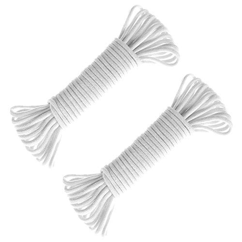 60 Feet Self watering Wick Cord for Vacation Self-watering Planter Pots DIY Automatic Watering Device System Potted Plant Sitter Auto Drip Irrigation Waterer to Water African Violet Cotton String Rope