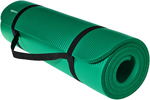 AmazonBasics Extra Thick Exercise Yoga Gym Floor Mat with Carrying...