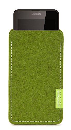 WildTech Sleeve für Microsoft Lumia 640 XL Dual SIM Hülle Tasche - 17 Farben (Made in Germany) - Farn