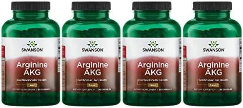 Swanson Arginine Akg 1 g 90 Caps 4 Pack product image