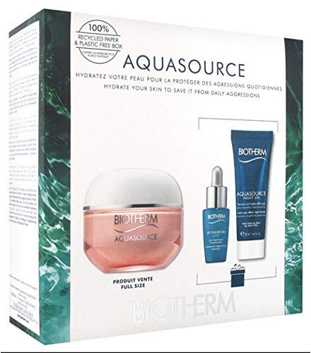 Biotherm Aquasource Creme PS Gesichtspflegeset (Gesichtsserum,7 ml +Gesichtsgel,50 ml +Nachtcreme,20 ml)